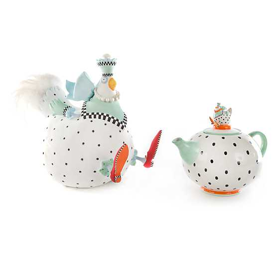 Patience Brewster Speckled Chicken Teapot image five
