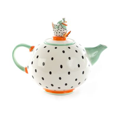 Image for Patience Brewster Speckled Chicken Teapot