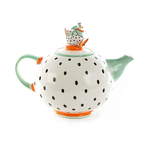 Patience Brewster Speckled Chicken Teapot image one