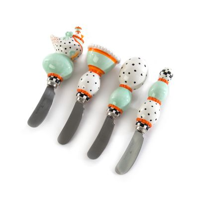 Patience Brewster Speckled Chicken Canape Knives - Set of 4