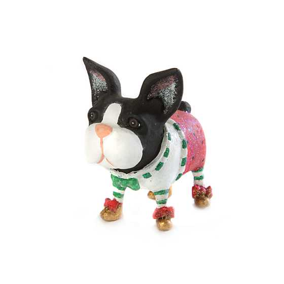 patience brewster boston terrier mini ornament - Boston Terrier Outdoor Christmas Decoration
