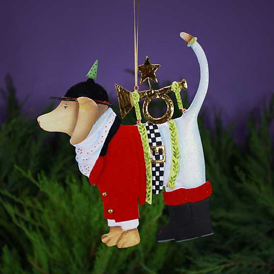Patience Brewster Bugler Beagle Tin Ornament