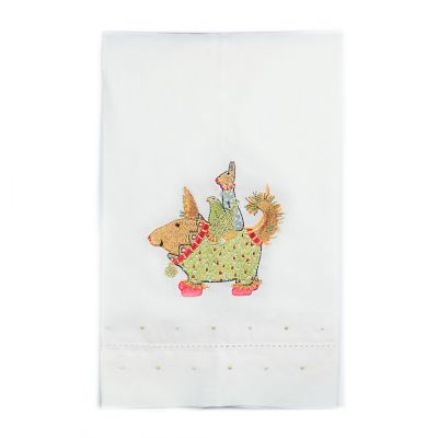 Patience Brewster Terrier Carrier Tea Towel