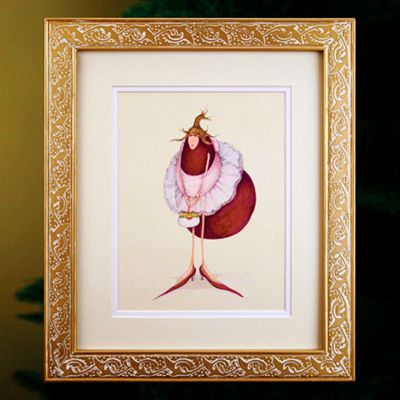 Patience Brewster Eggplant in Tutu Framed Art