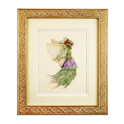 Patience Brewster Vineyard Harvest Fairy Framed Art