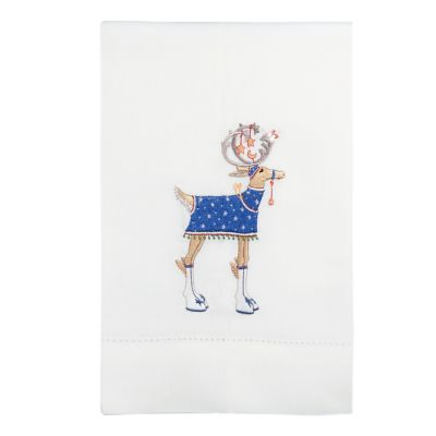 Patience Brewster Dash Away Comet Reindeer Tea Towel