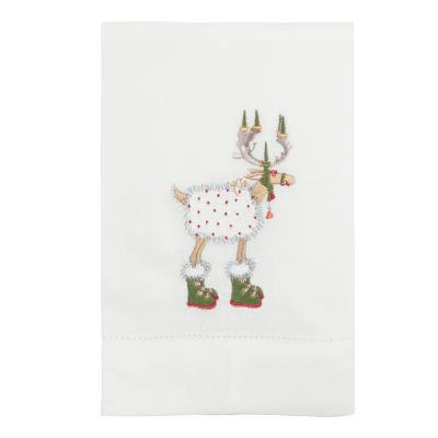 Patience Brewster Dash Away Blitzen Reindeer Tea Towel