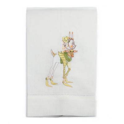 Patience Brewster Dash Away Prancer Reindeer Tea Towel