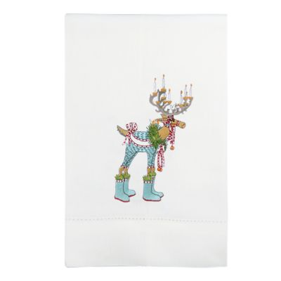 Patience Brewster Dash Away Dasher Reindeer Tea Towel