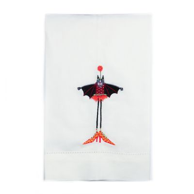 Patience Brewster Ballerina Bat Cat Tea Towel