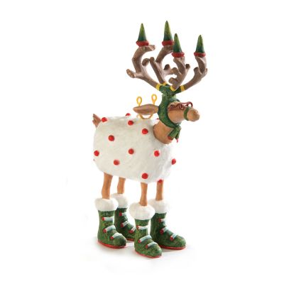 Patience Brewster Dash Away Blitzen Reindeer Mini Ornament