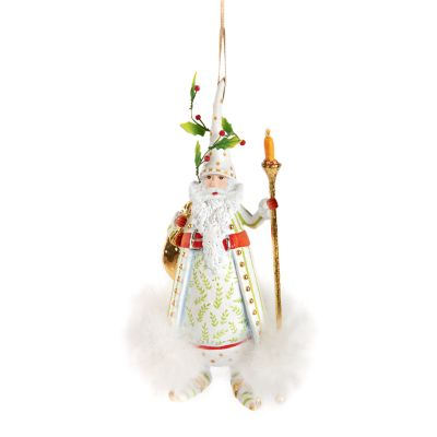 Patience Brewster Dash Away Candlelight Santa Ornament