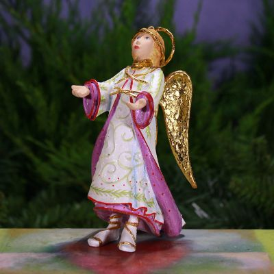 Patience Brewster Nativity Reverent Angel Ornament