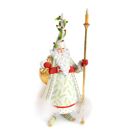 Patience Brewster Dash Away Candlelight Santa Figure