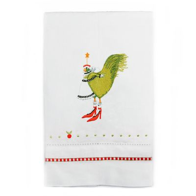 Patience Brewster 12 Days French Hen Tea Towel