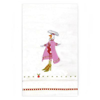Patience Brewster 12 Days Calling Bird Tea Towel