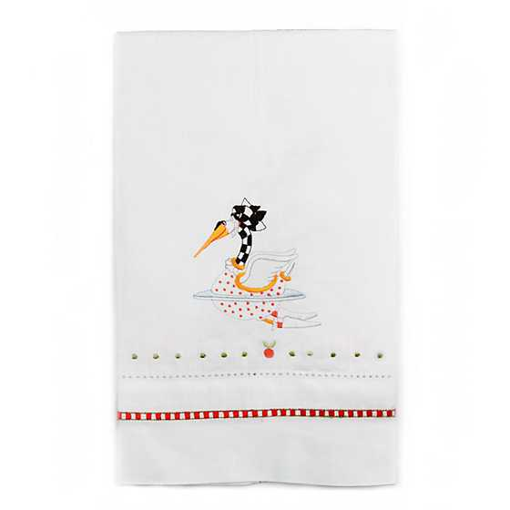 Patience Brewster 12 Days Swan a-Swimming Tea Towel image two