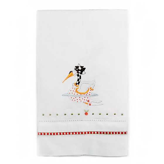 Patience Brewster 12 Days Swan a-Swimming Tea Towel