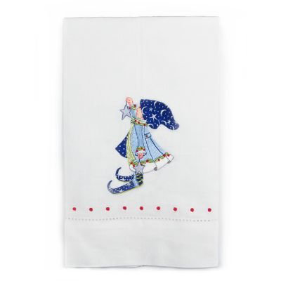 Patience Brewster Dash Away Comet's Elf Tea Towel