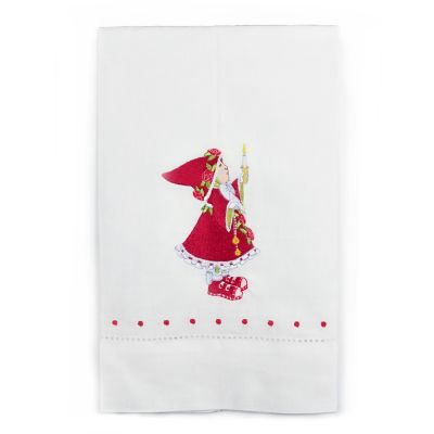 Patience Brewster Dash Away Donna's Elf Tea Towel