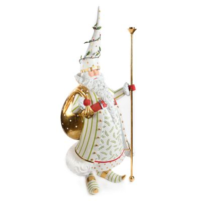 Patience Brewster Dash Away Candlelight Santa Display Figure