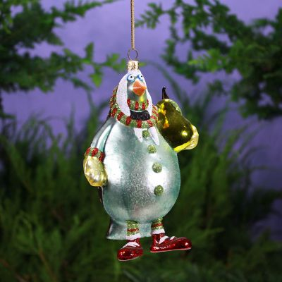 Patience Brewster 12 Days Partridge with Pear Glass Ornament
