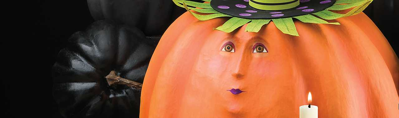 Patience Brewster Gourdon Pumpkin Display Figure Banner Image