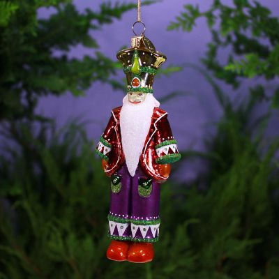 Patience Brewster Nutcracker Glass Ornament