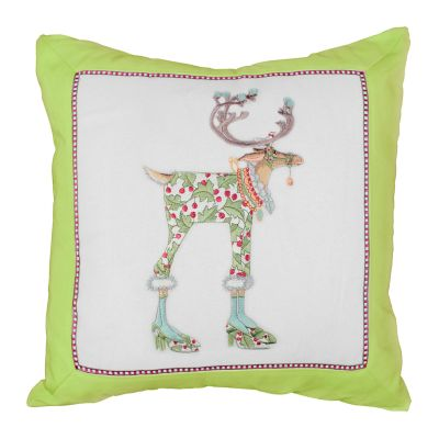 Patience Brewster Dash Away Vixen Reindeer Pillow