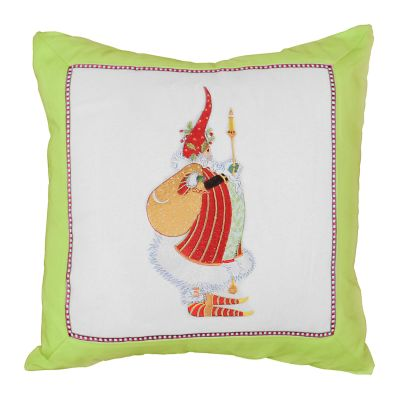 Patience Brewster Dash Away Candlelight Santa Pillow