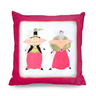 Patience Brewster Pierre & Phyllis Pig Pillow