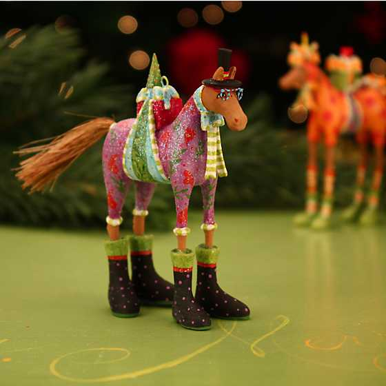 Patience Brewster Marcel Horse Mini Ornament image two