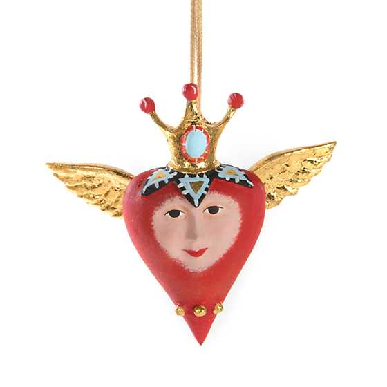 Patience Brewster Heart with Crown Mini Ornament