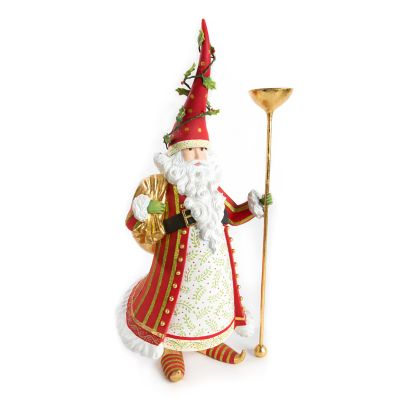 Patience Brewster Dash Away Nicholas Santa Candle Holder