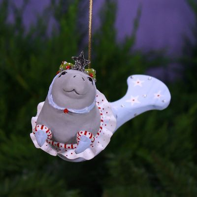Patience Brewster Mabel Manatee Mermaid Ornament