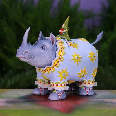 Patience Brewster Jambo Roberta Rhino with Tree Ornament