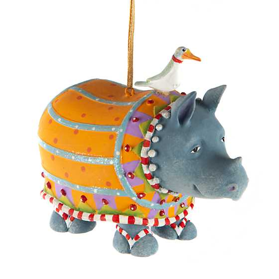 Patience Brewster Jambo Ralph Rhino Ornament image one