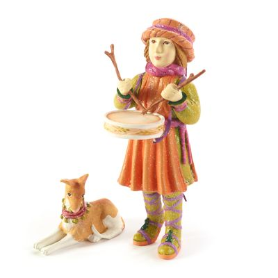 Patience Brewster Nativity Little Drummer Boy & Dog Figures