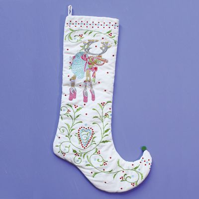 Patience Brewster Dash Away Dancer Reindeer Stocking