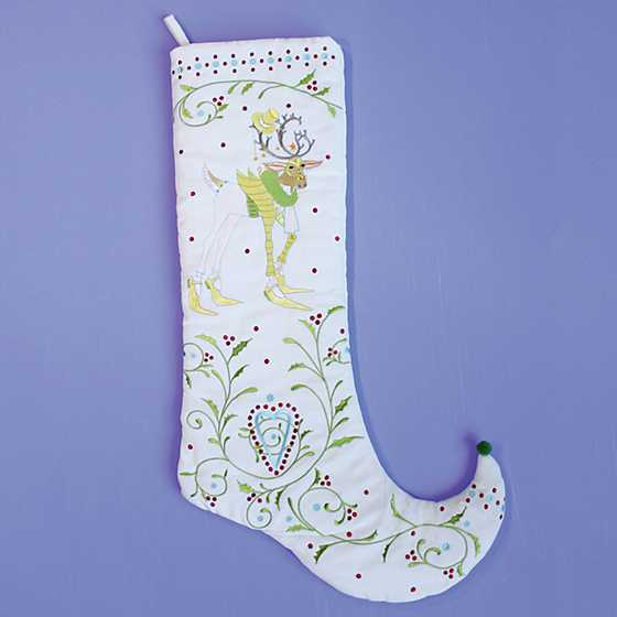 Patience Brewster Dash Away Prancer Reindeer Stocking