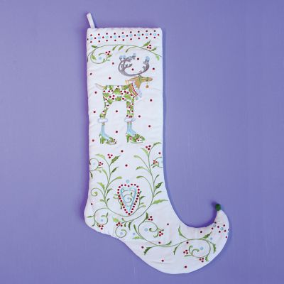 Patience Brewster Dash Away Vixen Reindeer Stocking