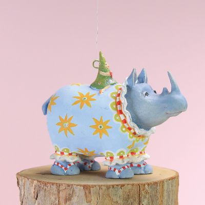 Patience Brewster Jambo Roberta Rhino Mini Ornament