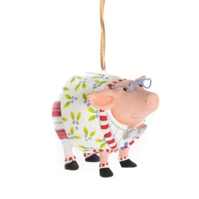 Patience Brewster Norbert Pig Mini Ornament