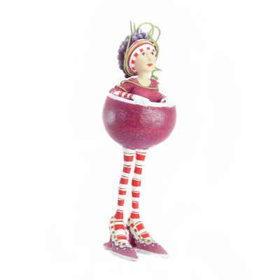 Patience Brewster Red Wine Girl Mini Ornament