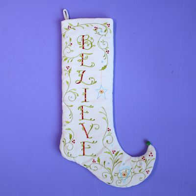 Patience Brewster Believe Stocking