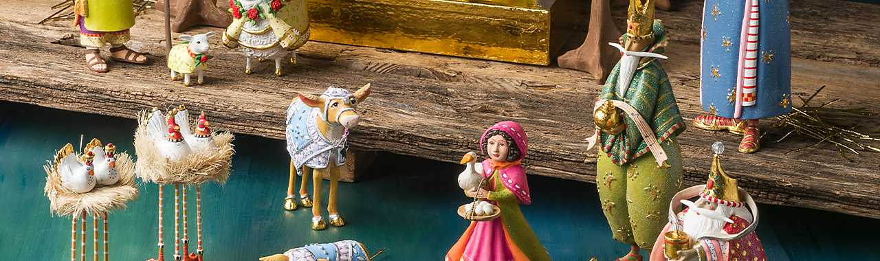Patience Brewster Nativity World Magi Figures Banner Image
