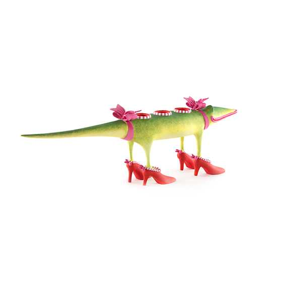 Patience Brewster Gloria Alligator Candle Holder image four