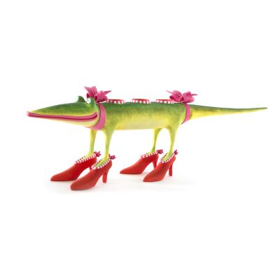 Patience Brewster Gloria Alligator Candle Holder