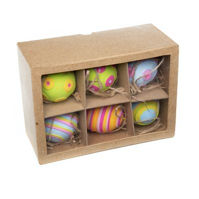 Image for Patience Brewster Technicolor Eggs - Set of 6 - Stripe and Dot