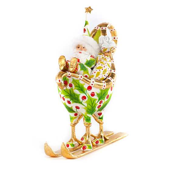 Patience Brewster Dash Away Santa in Sleigh Ornament image two